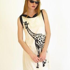 Anthro Corey Lynn Calter Giraffe Silk Dress Sz 8